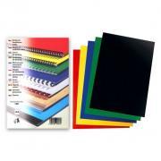 Desky pro kroužkovou vazbu spodní LESK A4  Černá 100ks - klikněte pro více informací